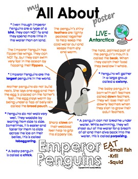 My All About Emperor Penguins Book - (Antarctic/Polar Animals)