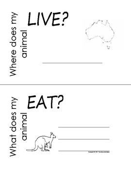 My All About Kangaroos Book / Workbook - (Australian Animal / Marsupial)