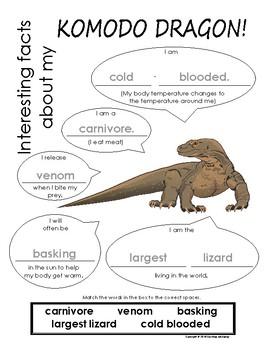 My All About Komodo Dragons Book / Workbook - (Desert ...