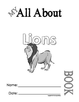 My All About Lions Book / Workbook - African Animal Unit Study
