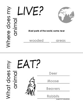 My All About Wolf Book / Workbook - (Forest / Woodland Animals)