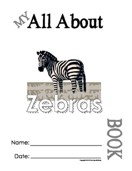 My All About Zebras Book / Workbook - African Animal Unit Study