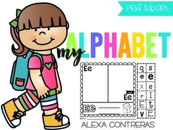 My Alphabet {Alphabet Practice Pages}