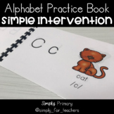 My Alphabet Book Early Reading Intervention Resource