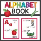 Pre K Alphabet Book and activities
