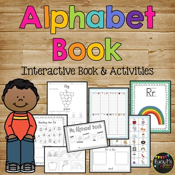 My Alphabet Book - Letter Recognition & Identification, Handwriting, & Sounds