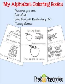 My Alphabet Books Letter A FREEBIE