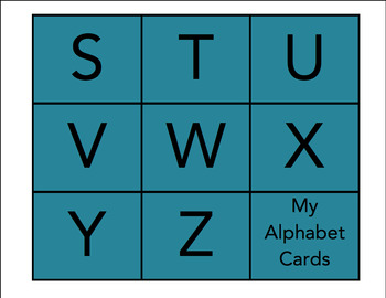 My Alphabet Cards