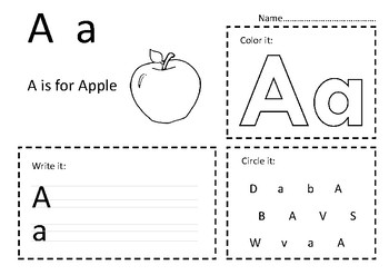 My Alphabet (Fun Activities Including Writing, Coloring ect.)
