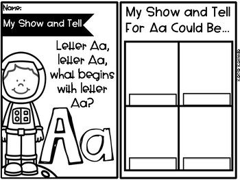 My Alphabet Show and Tell