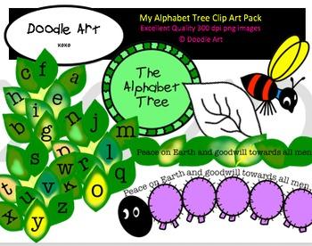My Alphabet Tree Clipart Pack