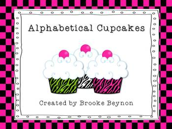 My Alphabetical Cupcakes