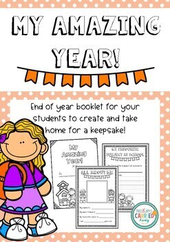My Amazing Year! End of year keepsake booklet for your students.