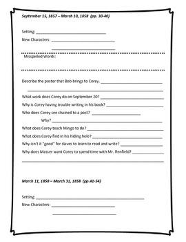 My America - Corey Underground  - Freedom Wings Book Response Packet