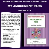 Interactive Weekly Writing Journal Lesson - My Amusement Park - CC Aligned