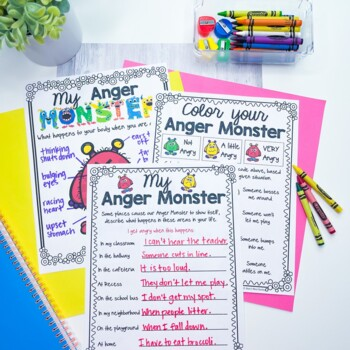 My Anger Monster, how anger looks and feels, anger management, SEL; angry temper