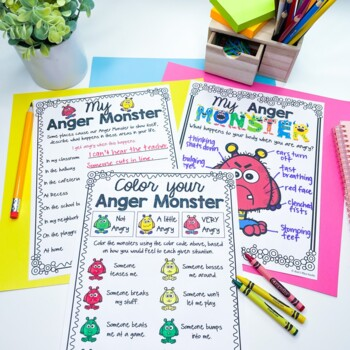 My Anger Monster, an Anger Management activity
