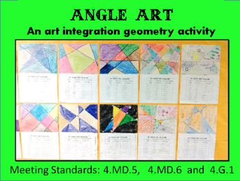 Angle Art: A Geometry Art Integration Lesson, 4.MD.5, 4.MD
