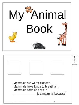 My Animal Booklet