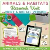 Animals and Habitats Research Unit- PRINTABLE & GOOGLE SLI