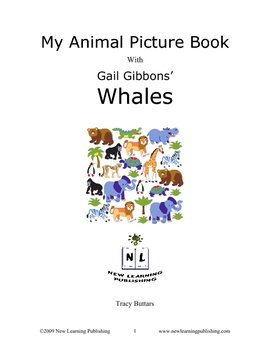 My Animal Picture Book with Gail Gibbons' Whales