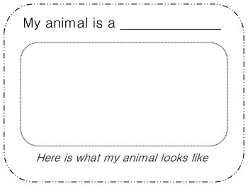 My Animal Report Book- Informational Writing for K-2nd Graders