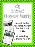 My Animal Report Writing Unit An Informational Writing Unit