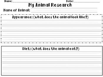 My Animal Research (Data Collection)