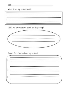 My Animal Research Graphic Organizer