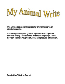 My Animal Write