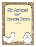 My Animal and Insect Book Emergent Reader