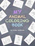 My Animals Coloring Book - 45 Hand Drawn Realistic Animals Art Fun Craft