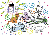 My Animals Starter Pack-11 CLIPARTS BW/COLOUR-