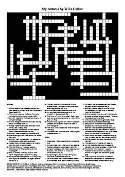 My Antonia - Crossword Puzzle