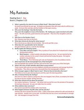 My Antonia Literature Circle - Common Core Curriculum Standards