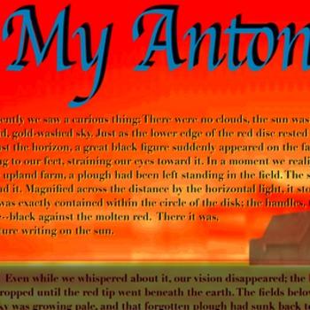 My Antonia Text Poster