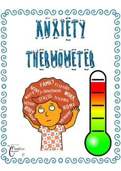 My Anxiety Thermometer *Calming *Emotional regulation