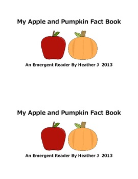 FREE My Apple And Pumpkin Fact Book