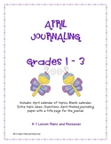My April Journal  Grades 1 - 3