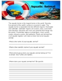My Aquatic Animal Research Worksheet
