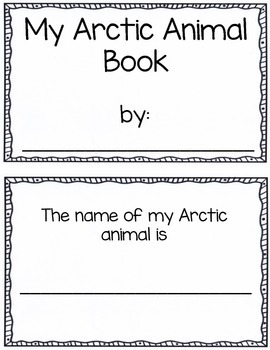 My Arctic Animal Report- Mini Book and Report Pages for Shared Research