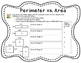 My Area and Perimeter Book (Printable Unit & Anchor Experience) 3.MD