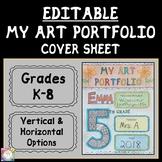 Editable Art Portfolio Cover Sheets