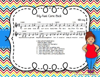 My Aunt Came Back - Traditional Action Song with Instrumental Parts