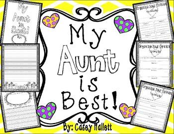 My Aunt is Best {Opinion Writing & Graphic Organizer} FREEBIE