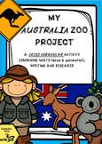 My Australia Zoo - A Cross Curricular Project teaching Area & Perimeter