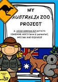 My Australia Zoo - A Cross Curricular Project teaching Are