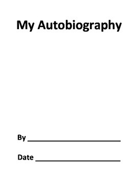 My Autobiography Book Form