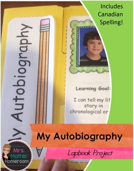 My Autobiography Lapbook Project
