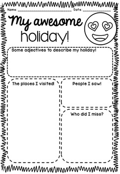 My Awesome Holiday - BACK TO SCHOOL